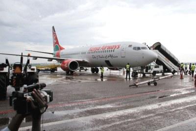A Kenya Airways aircraft (file photo).