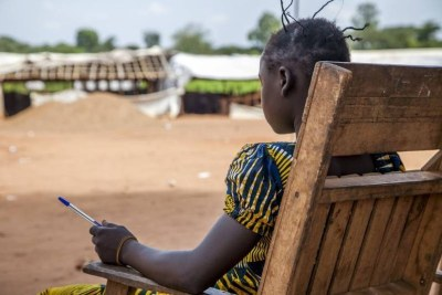 A former child combatant, 14, who used to be a member of the anti-balaka rebel group (file photo).