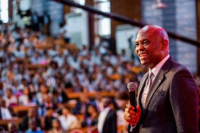 Mr. Tony Elumelu CON, Founder Tony Elumelu Foundation, addresses 1000 African entrepreneurs at the 2nd edition of the annual Tony Elumelu Foundation Entrepreneurship Forum, which recently held in Lagos.