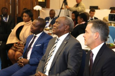 South African Minister of Telecommunications and Postal Services Dr Siyabonga Cwele (centre) was among the dignitaries who attended the GE Africa Digital Day.