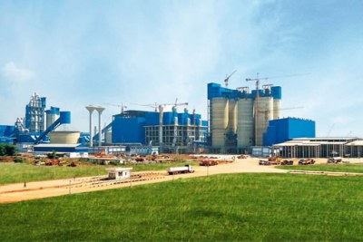Dangote Cement plant in Tanzania.