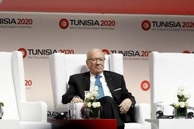 Béji Caïd Essebsi à l'ouverture de Tunisia 2020 le 29 novembre 2016.