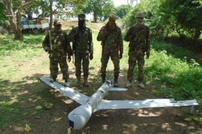 Militants at a surveillance Drone crashes site (file photo).