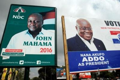 John Dramani and President Nana Akufo Addo are 2020 presidential candidates.