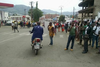Riots in Limbe (file photo).
