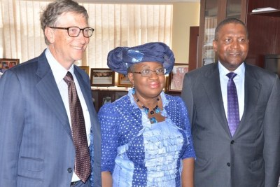 Mr Bill Gates, Mme Ngozi Okonjo-Iweala et Alhaji Aliko Dangote