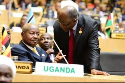 Tanzania president Magufuli consults president Museveni in Addis.