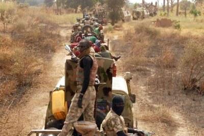 Armée nigériane dans la forêt de Sambisa