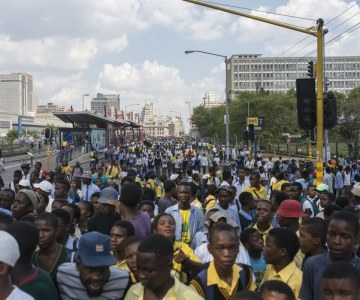 Students March on Johannesburg Mayor