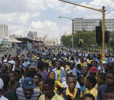 Students March on Johannesburg Mayor