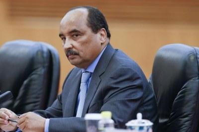 Le President mauritanien Mohamed Ould Abdel Aziz