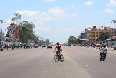 Lumumba boulevard in Kinshasa