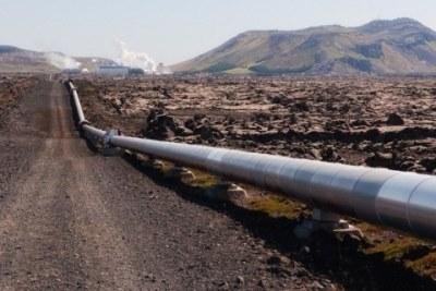Crude oil pipeline.