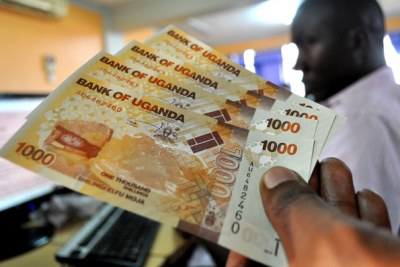 Uganda Shilling notes, (file photo).