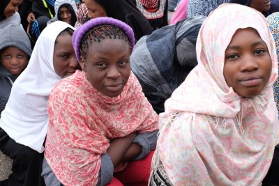 Migrants at a detention centre in Libya (file photo).