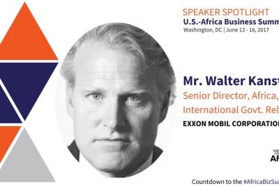 Walter Kansteiner, Senior Director, Africa, Exxonmobil to speak at the CCA Africa Business Summit.