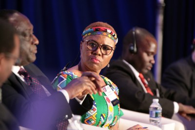 Lindiwe Zulu, Minister of Small Business Development, Republic of South Africa at the opening ministerial session of the U.S.-Africa Business Summit held in Washington, DC, July 13-16.