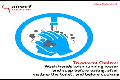 AMREF has launched a national education campaign as cholera cases increase.