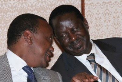 Uhuru Kenyatta and Raila Odinga.