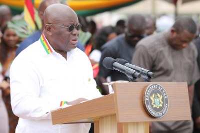 President Nana Addo Dankwa Akufo-Addo launching free education at the higher levels of secondary schools.
