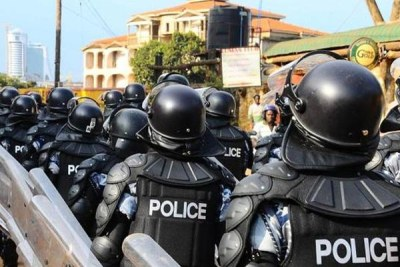 Police deploy in Kampala ahead of presidential age limit demonstrations.