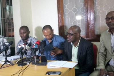 HHPL Managing Director Saed Kubenea addresses a press conference on Wednesday September 27.