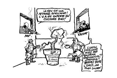 Caricature sur la présidentielle en RDC