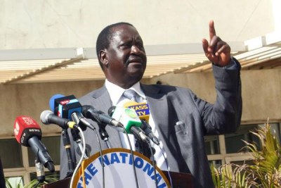 Nasa leader Raila Odinga.