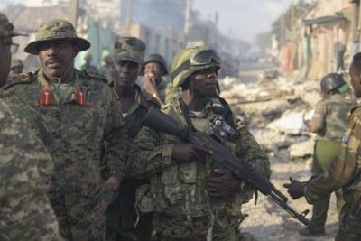 Des troupes de l'Union Africaine en Somalie.