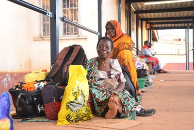 Patients stranded at Mulago hospital .