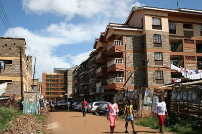 Flats in Zimmerman, Nairobi (file photo).