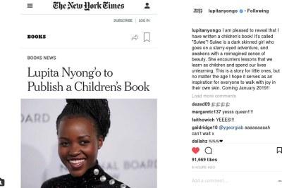 Lupita Nyong'o writes a children's book.