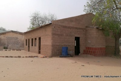 Front view of the dormitory from where the girls were abducted.