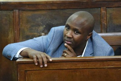 Alfred Keter follows court proceedings in Eldoret during the ruling of a case challenging his election victory as Nandi Hills MP.