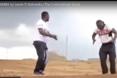 Isaiah featuring Waharaka in the controversial song video, Ikamba.