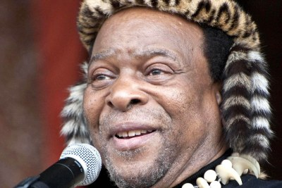 King Goodwill Zwelithini of the Zulu nation in South Africa