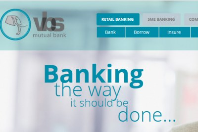 The VBS Mutual Bank website (file photo).