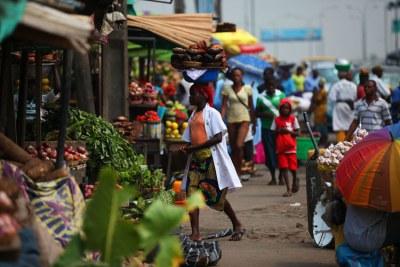 Market in Lagos, Nigeria.