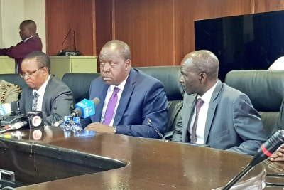 Cabinet Secretary Fred Matiang'i speaking before the parliamentary committee that oversees the Interior ministry.