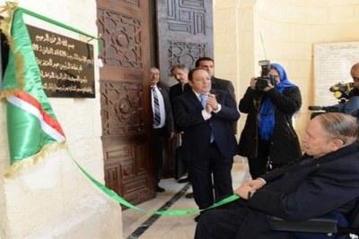 Le président Bouteflika inaugurant la mosquée Ketchaoua restaurée et les extensions du métro d'Alger, le lundi 9 Avril 2018