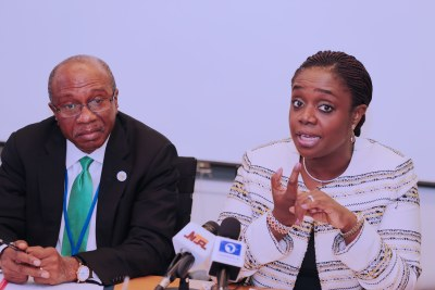 Minster of Finance, Kemi Adeosun and Governor of Central Bank of Nigeria, Godwin Emefiele.
