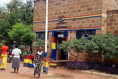 Taveta police station where the 56 minors are being held.