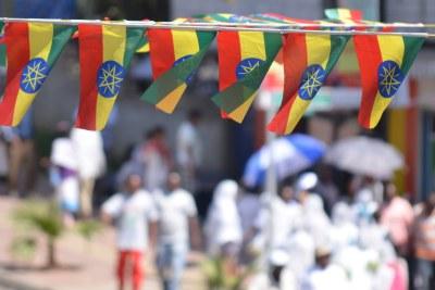 Ethiopia flags.