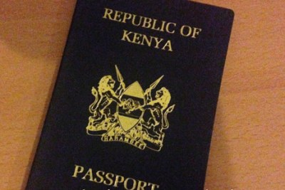 The Kenyan passport.