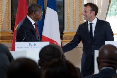 Le chef de l'Etat angolais  reçu à l'Elysée par son homologue Emmanuel Macron