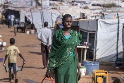 Internally displaced person camp in Juba (file photo)