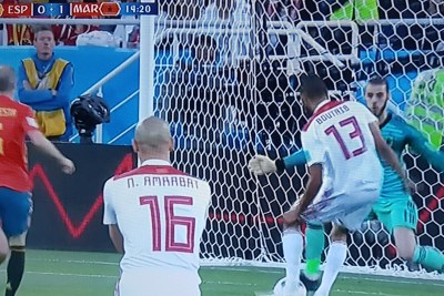 Morocco first goal vs Spain.