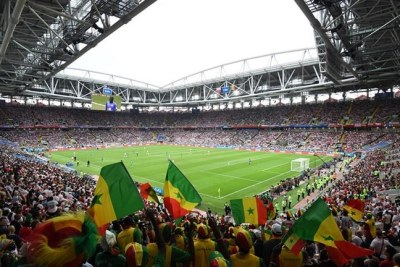 Senegal fans at the 2018 World Cup in Russia (file photo).