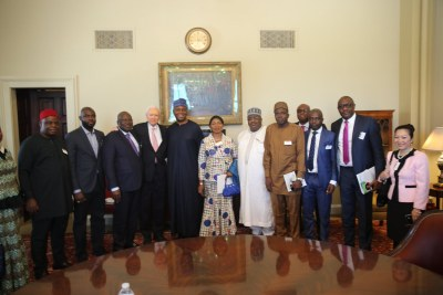 U.S. Senate Pro Tempore Orin Hatch with Nigerian Senate President Bukola Saraki and delegation from the National Assembly on a visit to Washington, DC