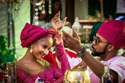 Banky W and his wife, Adesua